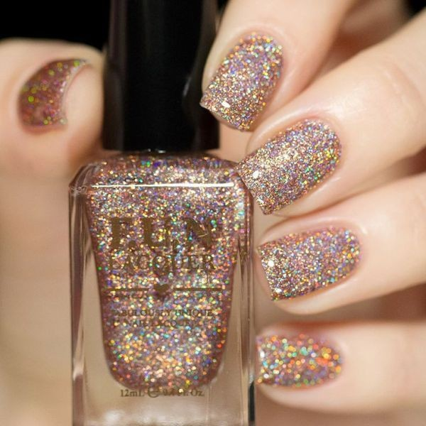 glitter-nail-art-ideas-91 89+ Glitter Nail Art Designs for Shiny & Sparkly Nails