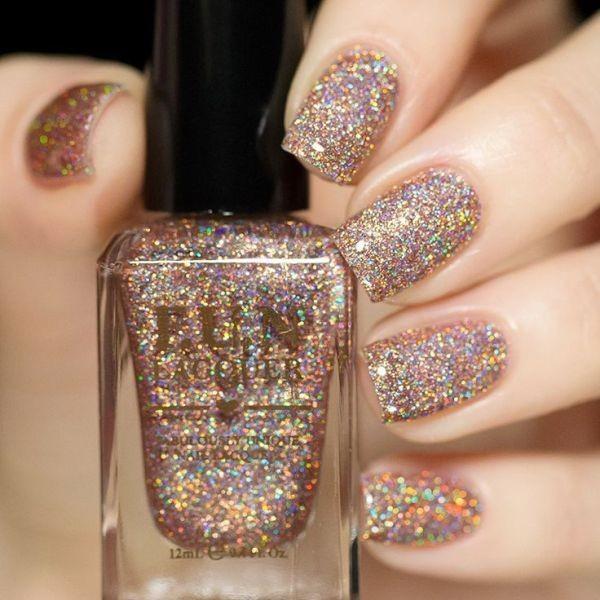 glitter-nail-art-ideas-91 89+ Glitter Nail Art Designs for Shiny & Sparkly Nails