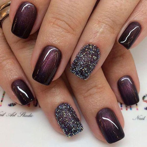 glitter-nail-art-ideas-92 89+ Glitter Nail Art Designs for Shiny & Sparkly Nails