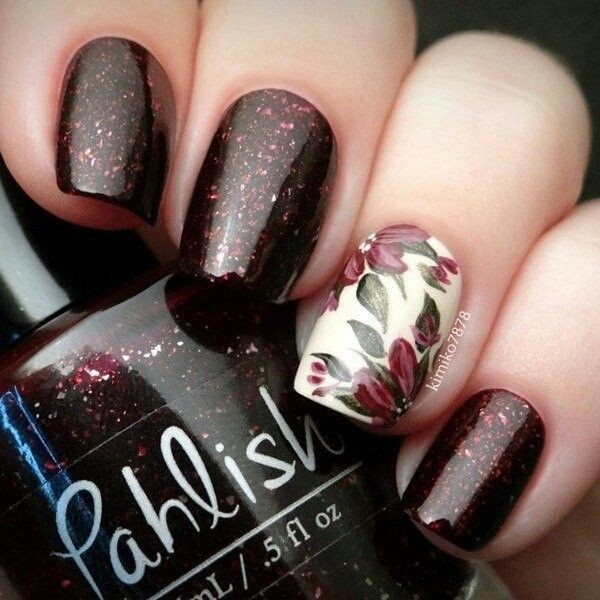 glitter-nail-art-ideas-93 89+ Glitter Nail Art Designs for Shiny & Sparkly Nails