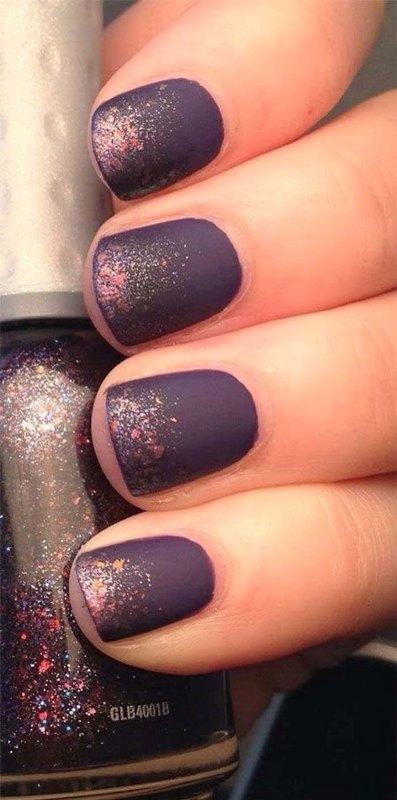 glitter-nail-art-ideas 89+ Glitter Nail Art Designs for Shiny & Sparkly Nails