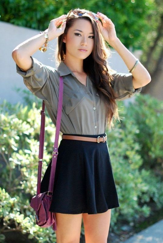 miniskirts-for-school-15 10+ Cool Back-to-School Outfit Ideas for 2018