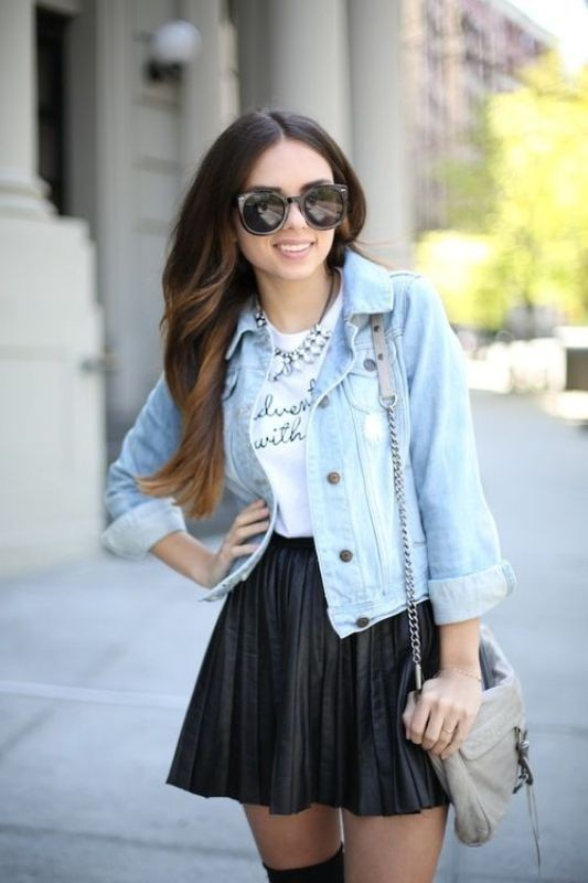 miniskirts-for-school-5 10+ Cool Back-to-School Outfit Ideas for 2020
