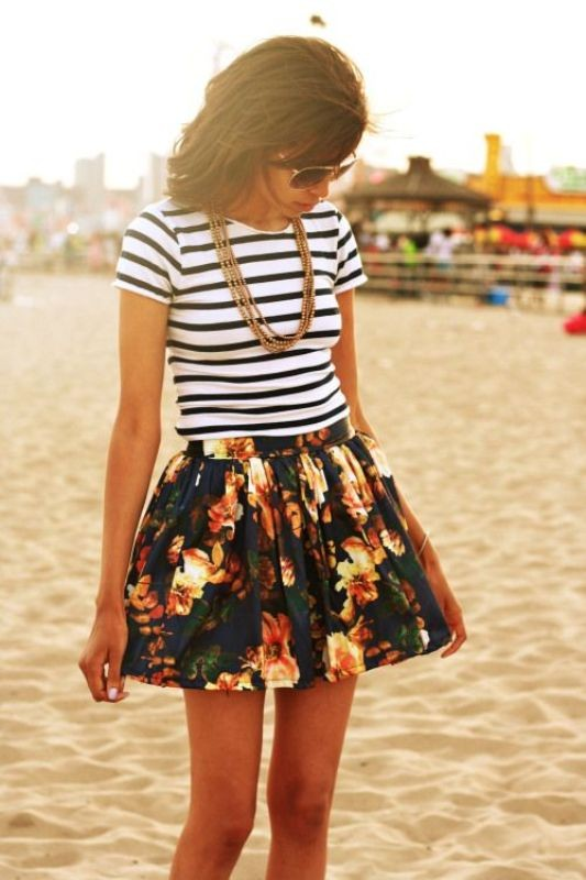 mixed-prints-for-school-5 10+ Cool Back-to-School Outfit Ideas for 2020