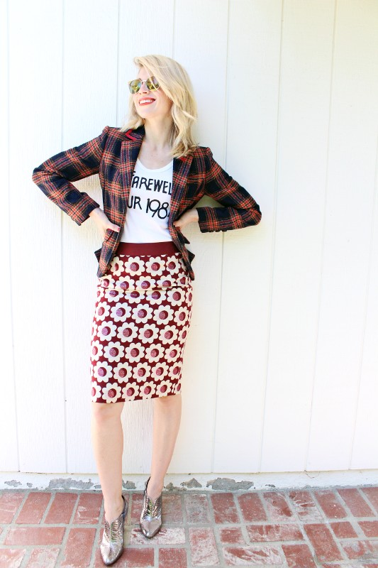 mixed-prints-for-school-6 10+ Cool Back-to-School Outfit Ideas for 2020