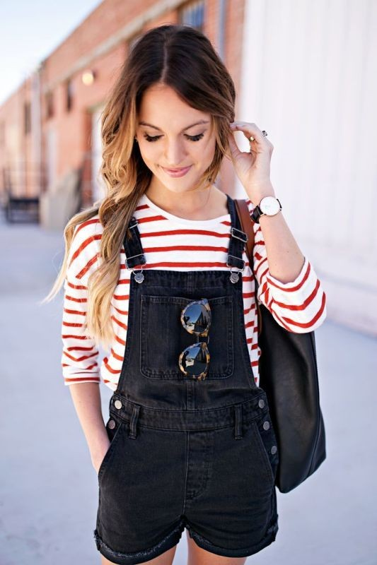 overalls-for-school-6 10+ Cool Back-to-School Outfit Ideas for 2020