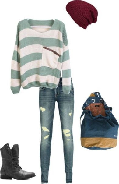 school-outfit-ideas-11 Fabulous School Outfit Ideas for Teenage Girls 2017/2018