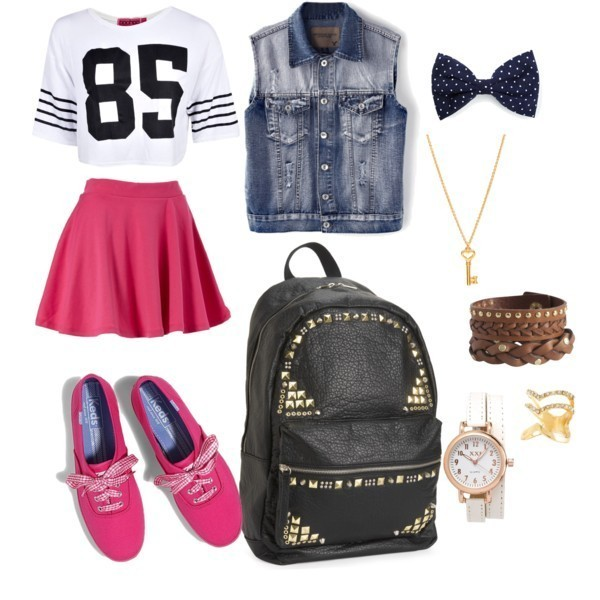 school-outfit-ideas-148 Fabulous School Outfit Ideas for Teenage Girls 2020