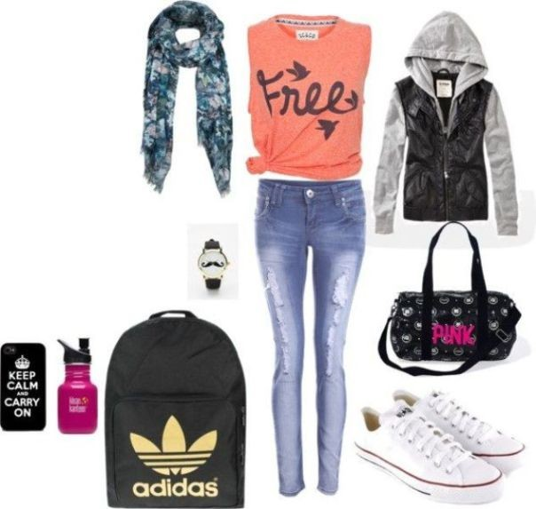 school-outfit-ideas-237 Fabulous School Outfit Ideas for Teenage Girls 2018