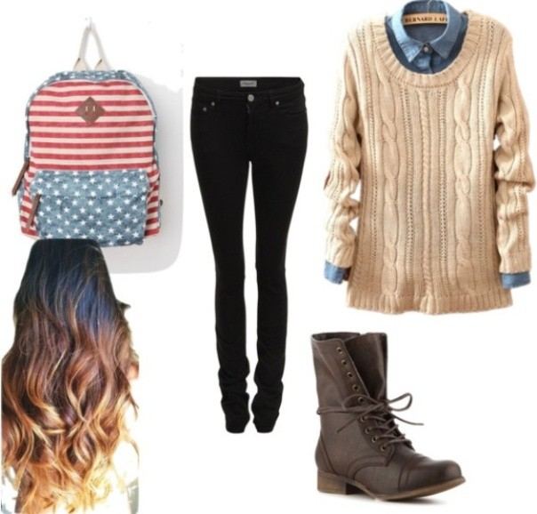 school-outfit-ideas-238 Fabulous School Outfit Ideas for Teenage Girls 2018