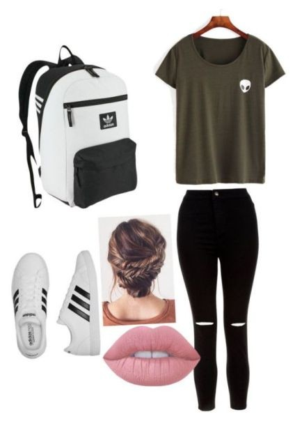 school-outfit-ideas-39 Fabulous School Outfit Ideas for Teenage Girls 2020