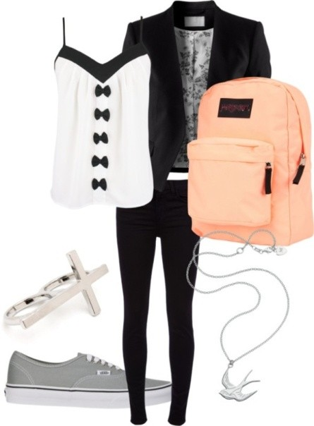 school-outfit-ideas-53 Fabulous School Outfit Ideas for Teenage Girls 2020