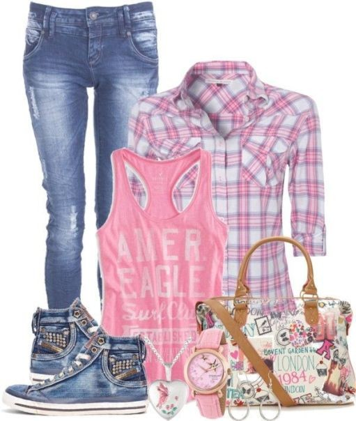 school-outfit-ideas-76 Fabulous School Outfit Ideas for Teenage Girls 2020