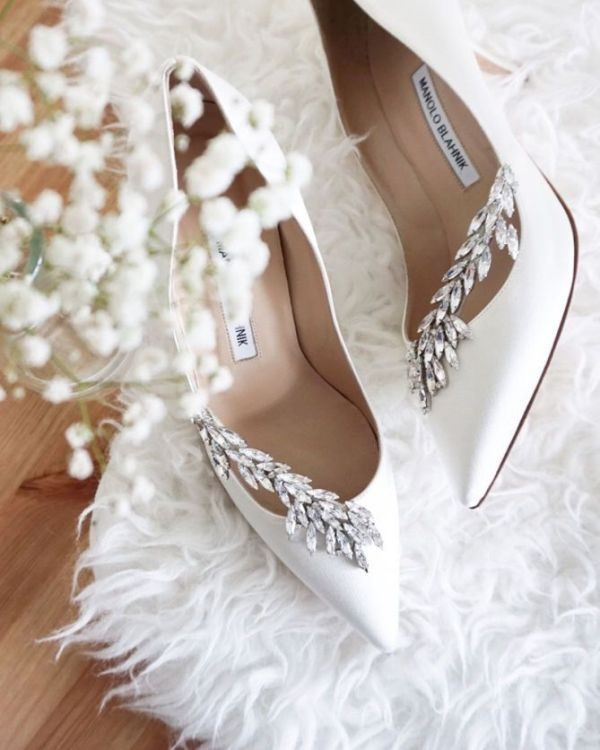 white-wedding-shoes-100 83+ Most Fabulous White Wedding Shoes in 2020