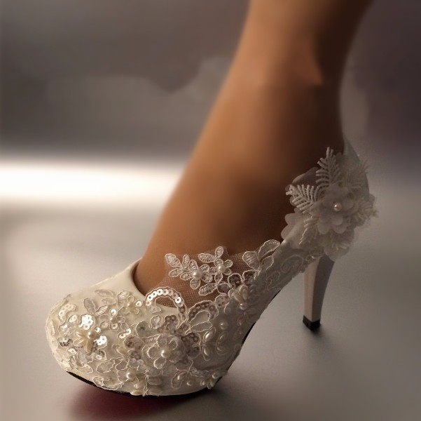 white-wedding-shoes-110 83+ Most Fabulous White Wedding Shoes in 2021