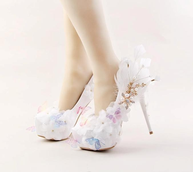 white-wedding-shoes-116 83+ Most Fabulous White Wedding Shoes in 2020