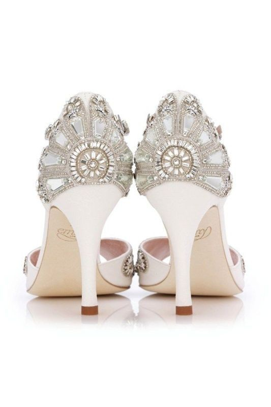white-wedding-shoes-12 83+ Most Fabulous White Wedding Shoes in 2020
