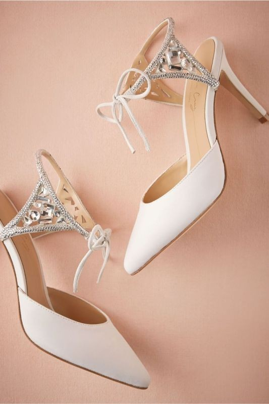 white-wedding-shoes-15 83+ Most Fabulous White Wedding Shoes in 2020