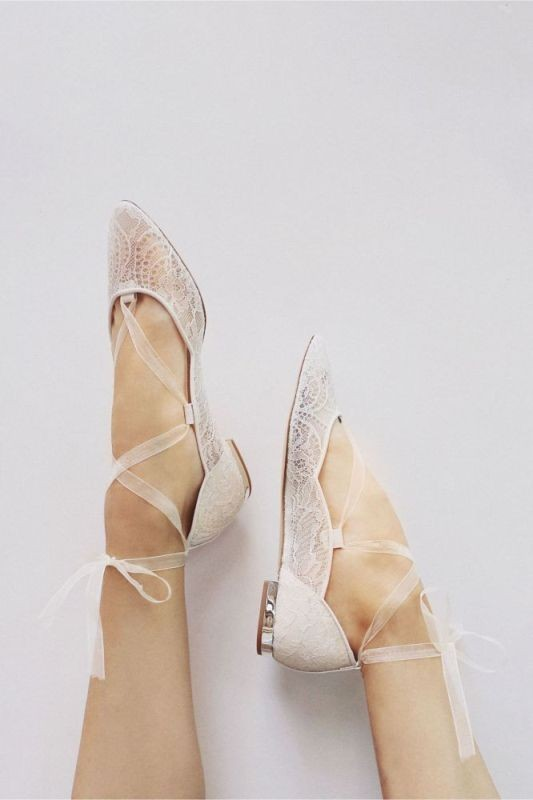 white-wedding-shoes-17 83+ Most Fabulous White Wedding Shoes in 2021
