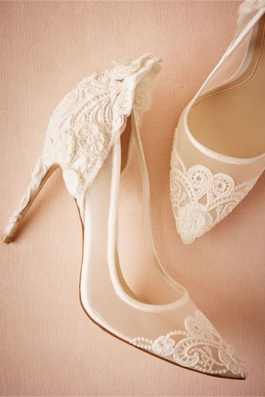 white-wedding-shoes-21 83+ Most Fabulous White Wedding Shoes in 2021