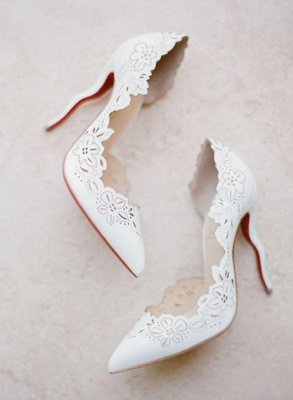 white-wedding-shoes-36 83+ Most Fabulous White Wedding Shoes in 2020