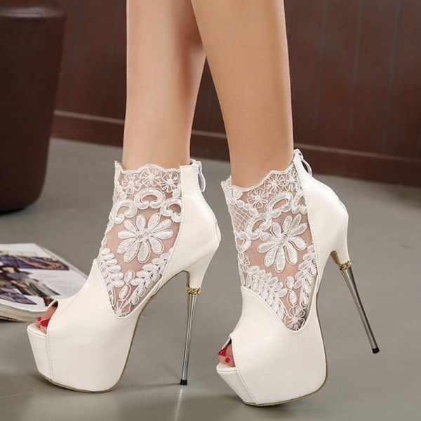 white-wedding-shoes-40 83+ Most Fabulous White Wedding Shoes in 2018