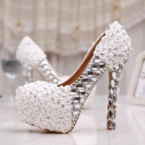white-wedding-shoes-41 83+ Most Fabulous White Wedding Shoes in 2020