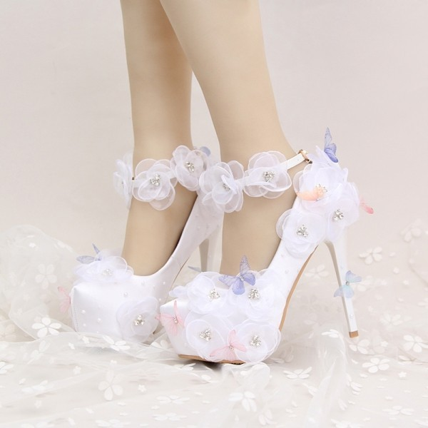 white-wedding-shoes-42 83+ Most Fabulous White Wedding Shoes in 2018