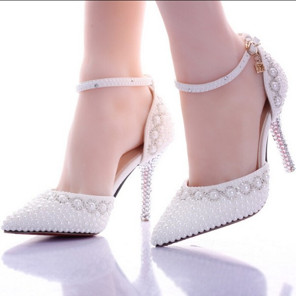 white-wedding-shoes-44 83+ Most Fabulous White Wedding Shoes in 2020
