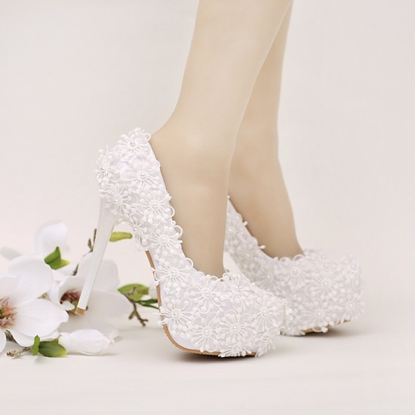 white-wedding-shoes-47 83+ Most Fabulous White Wedding Shoes in 2021