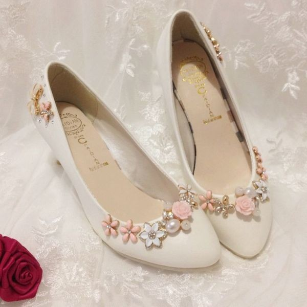 white-wedding-shoes-48 83+ Most Fabulous White Wedding Shoes in 2021
