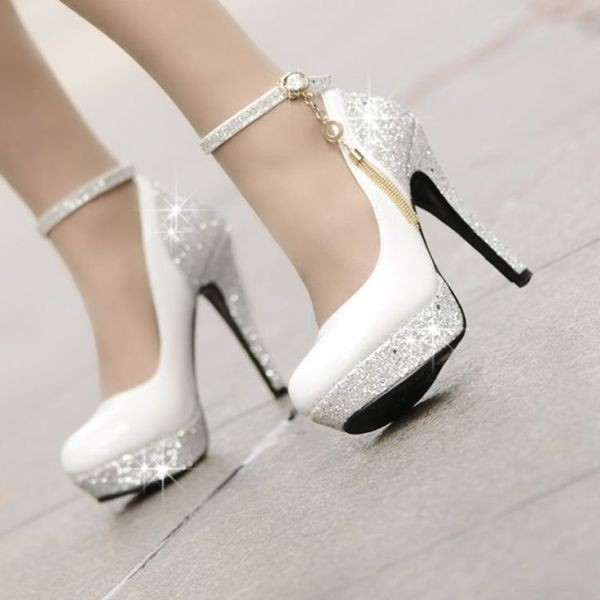 white-wedding-shoes-50 83+ Most Fabulous White Wedding Shoes in 2021