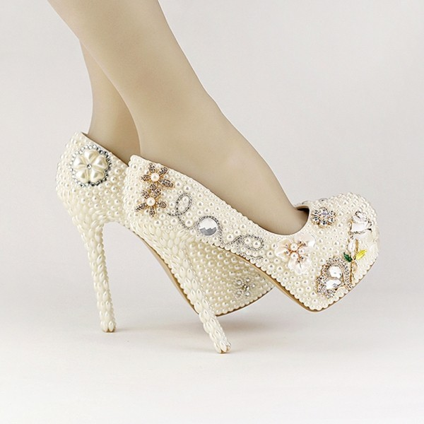 white-wedding-shoes-54 83+ Most Fabulous White Wedding Shoes in 2021