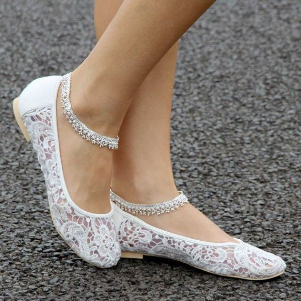 white-wedding-shoes-55 83+ Most Fabulous White Wedding Shoes in 2021