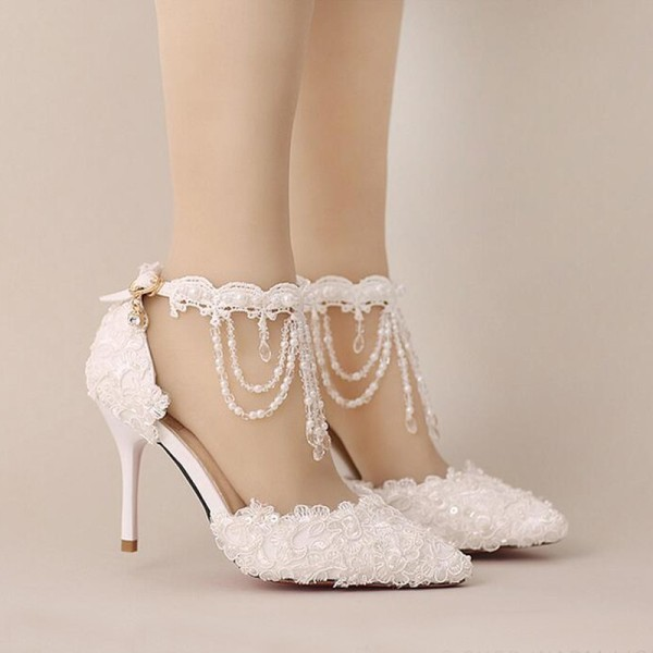 white-wedding-shoes-66 83+ Most Fabulous White Wedding Shoes in 2020