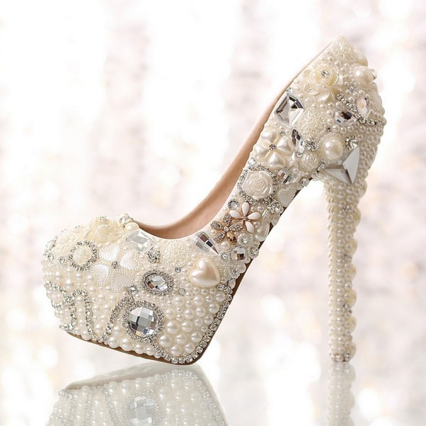 white-wedding-shoes-67 83+ Most Fabulous White Wedding Shoes in 2021