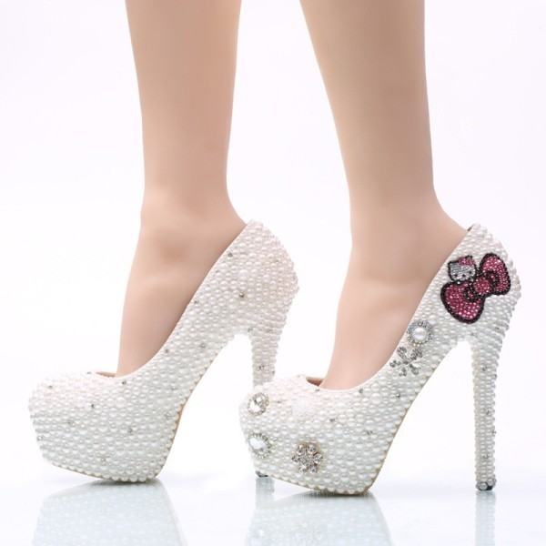 white-wedding-shoes-68 83+ Most Fabulous White Wedding Shoes in 2021