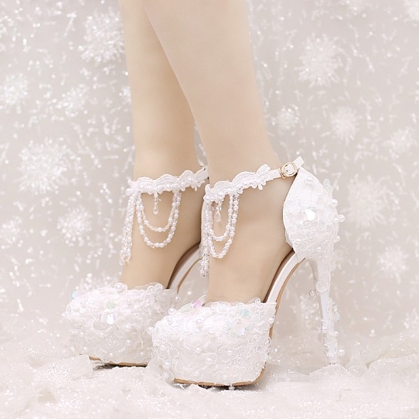 white-wedding-shoes-71 83+ Most Fabulous White Wedding Shoes in 2021
