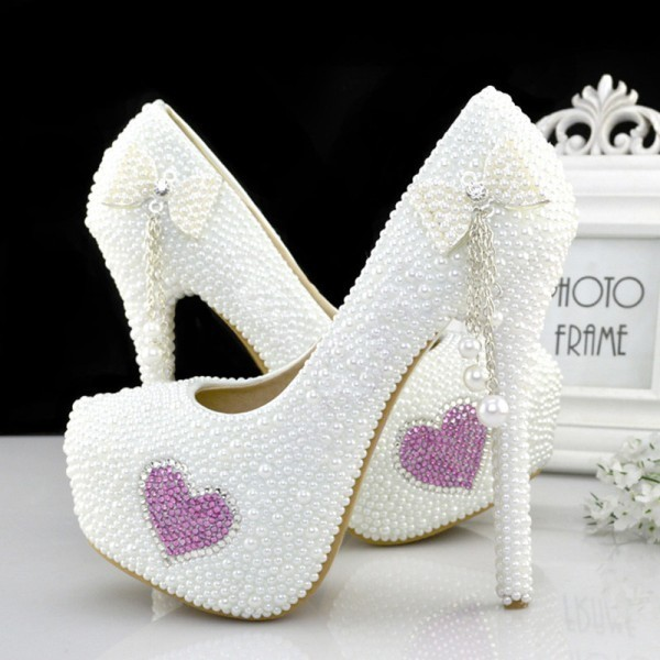 white-wedding-shoes-73 83+ Most Fabulous White Wedding Shoes in 2021