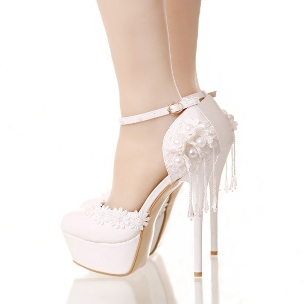 white-wedding-shoes-74 83+ Most Fabulous White Wedding Shoes in 2021