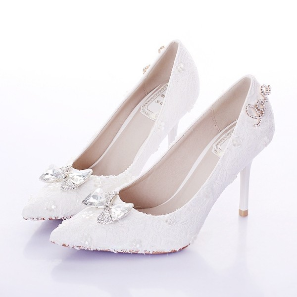white-wedding-shoes-75 83+ Most Fabulous White Wedding Shoes in 2020