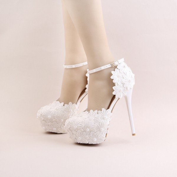 white-wedding-shoes-77 83+ Most Fabulous White Wedding Shoes in 2021
