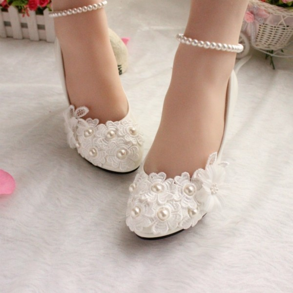 white-wedding-shoes-78 83+ Most Fabulous White Wedding Shoes in 2018