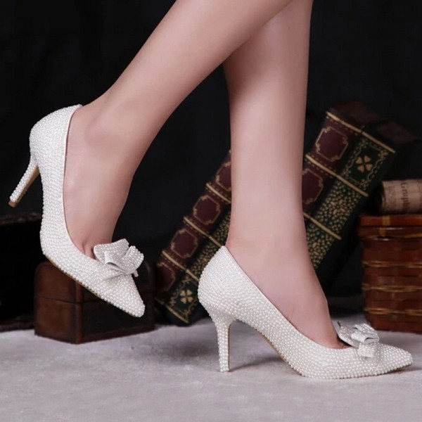white-wedding-shoes-80 83+ Most Fabulous White Wedding Shoes in 2018