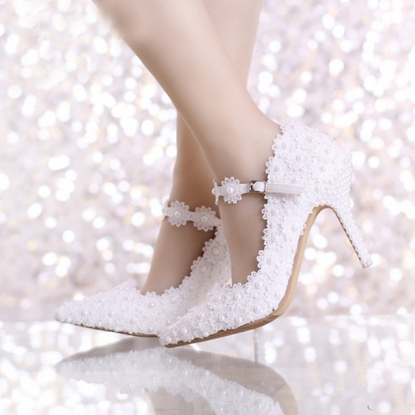 white-wedding-shoes-81 83+ Most Fabulous White Wedding Shoes in 2017
