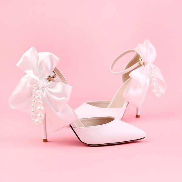 white-wedding-shoes-85 83+ Most Fabulous White Wedding Shoes in 2021