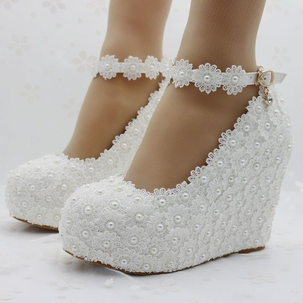 white-wedding-shoes-90 83+ Most Fabulous White Wedding Shoes in 2017