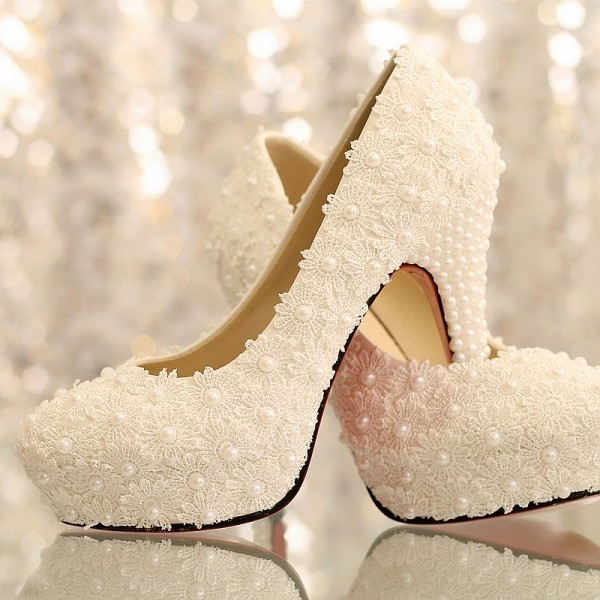 white-wedding-shoes-91 83+ Most Fabulous White Wedding Shoes in 2018