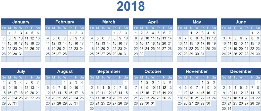 2018-calendars 87+ Fascinating Printable Calendar Templates