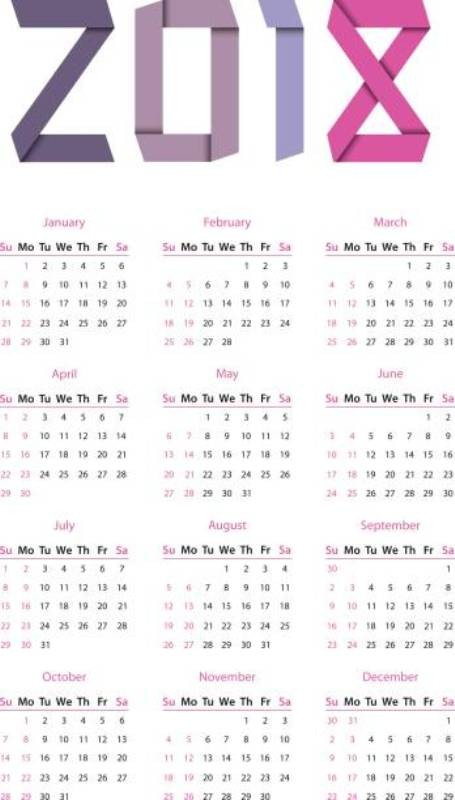 2018-printable-calendars-1 87+ Fascinating Printable Calendar Templates